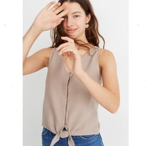 Madewell Texture & Thread Button-Front Tie Tank XS